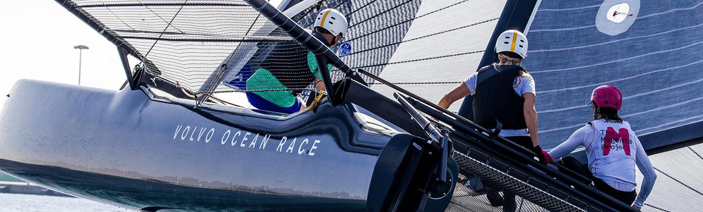 Woman sails volvo ocean race M32 image