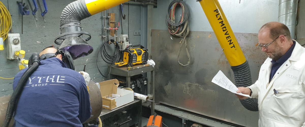 Hythe Group welder welding Inconel Gas shielding flow guides for Rolls Royce